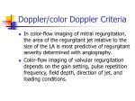 doppler color doppler criteria