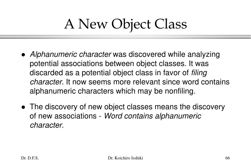 A New Object Class