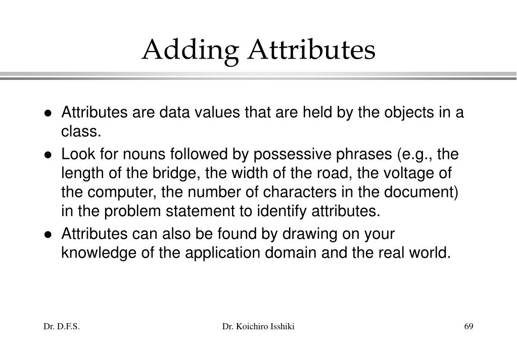 Adding Attributes