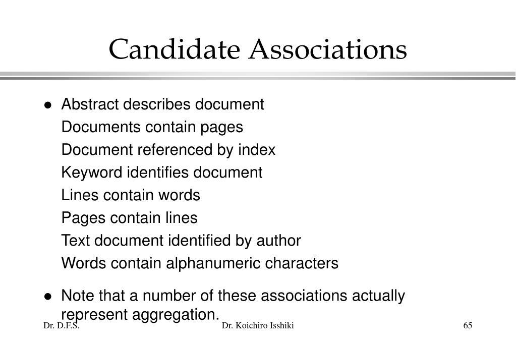 Candidate Associations