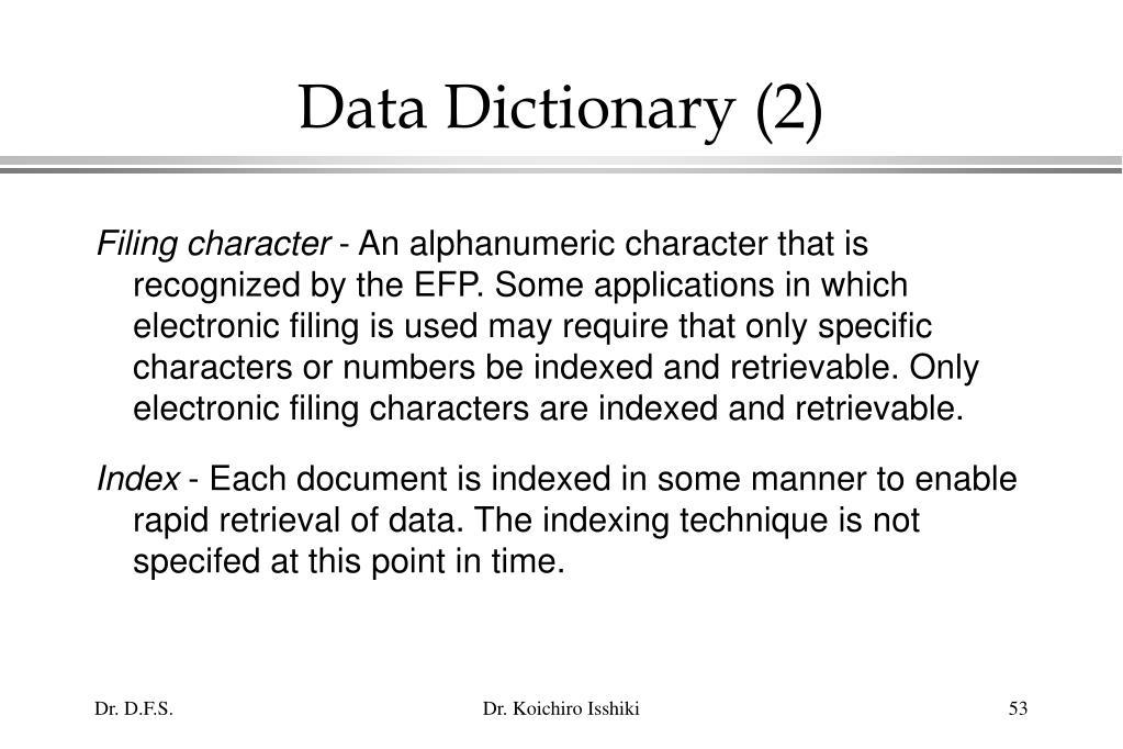 Data Dictionary (2)