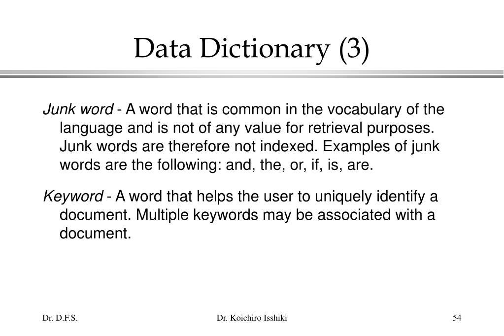 Data Dictionary (3)