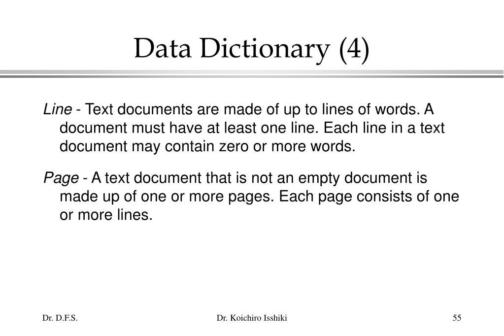Data Dictionary (4)