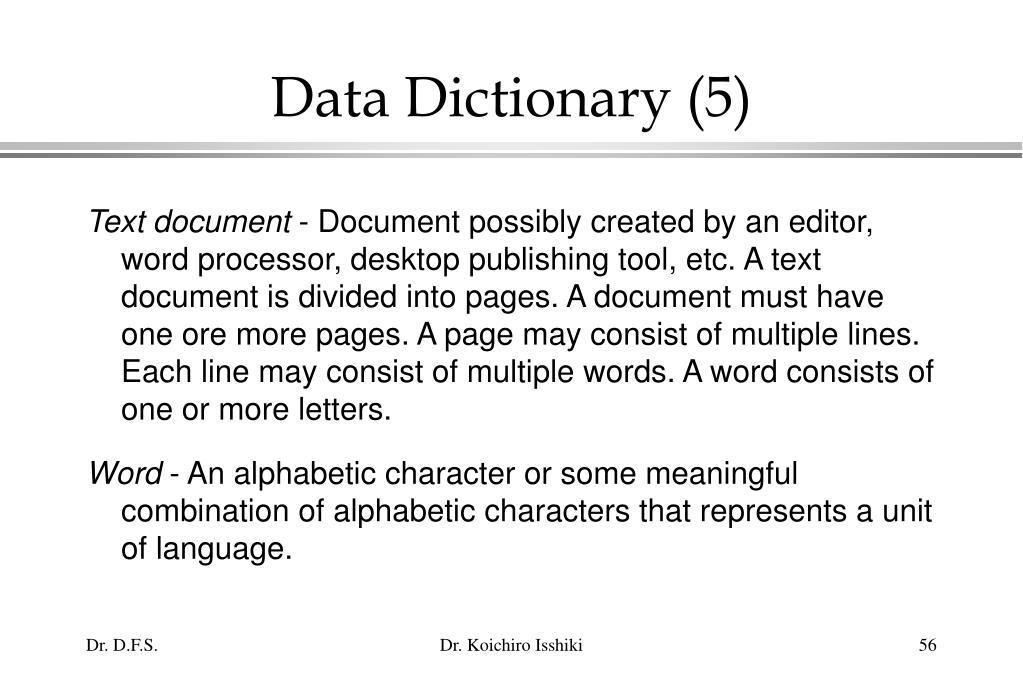 Data Dictionary (5)