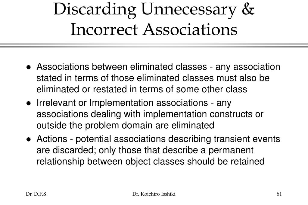 Discarding Unnecessary & Incorrect Associations