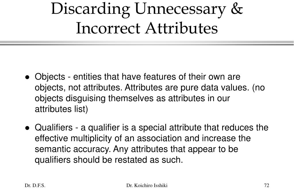 Discarding Unnecessary & Incorrect Attributes