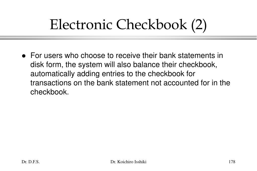 Electronic Checkbook (2)