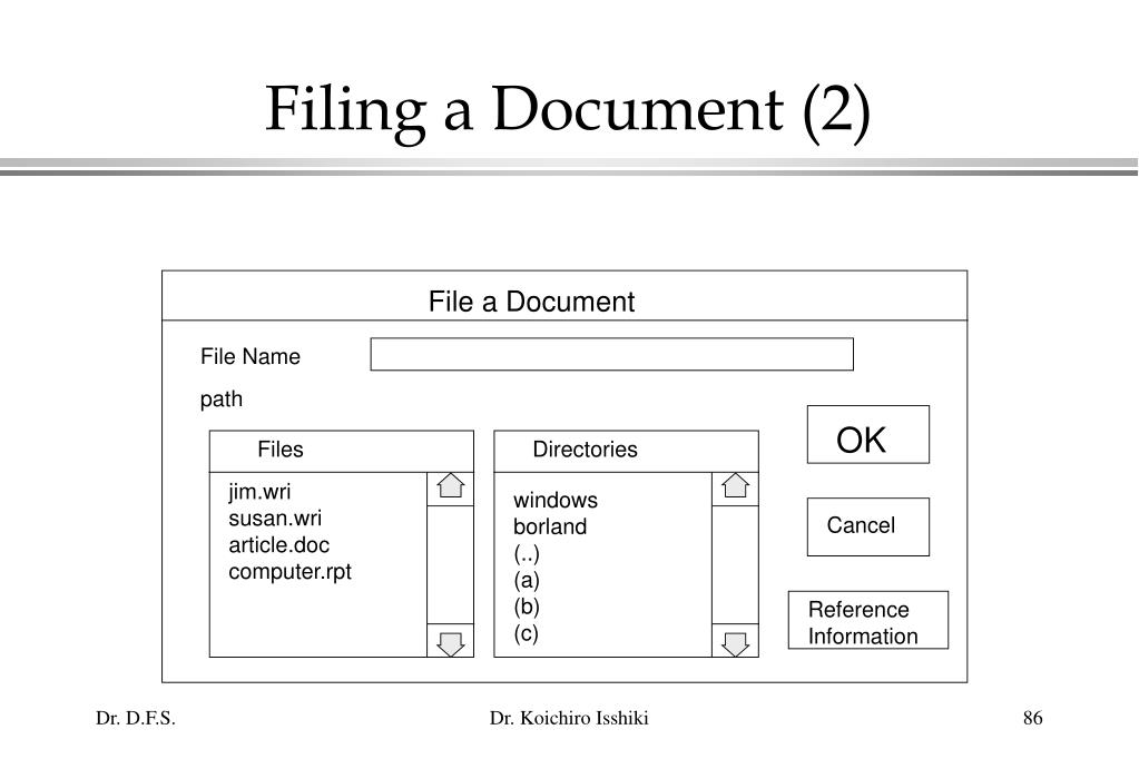 Filing a Document (2)