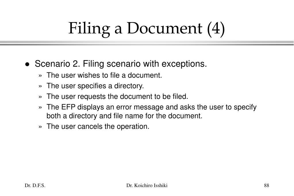 Filing a Document (4)