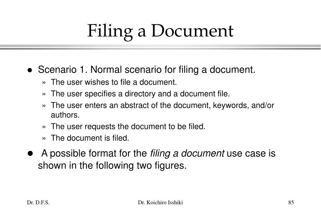 Filing a Document