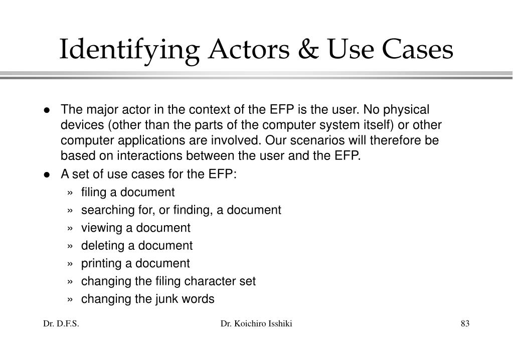 Identifying Actors & Use Cases