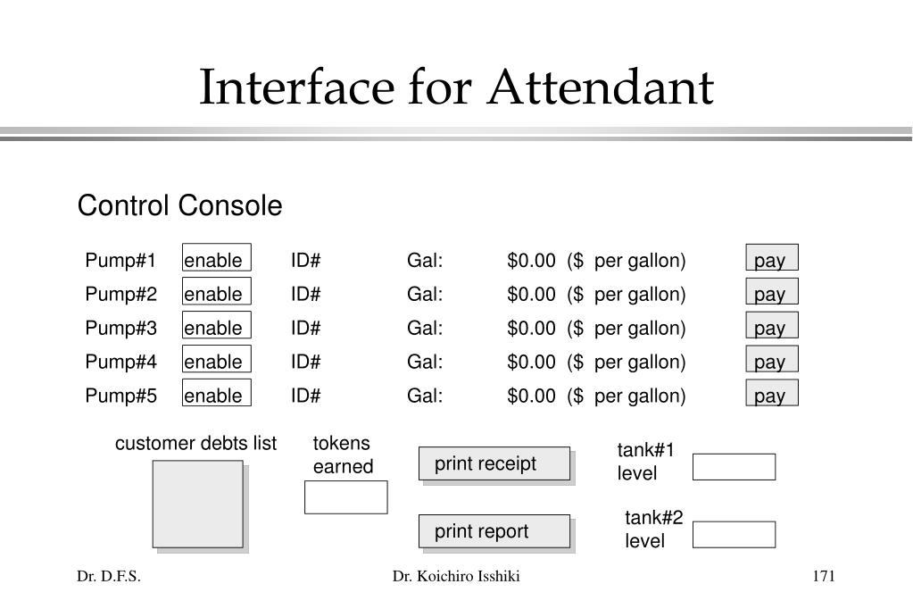 Interface for Attendant