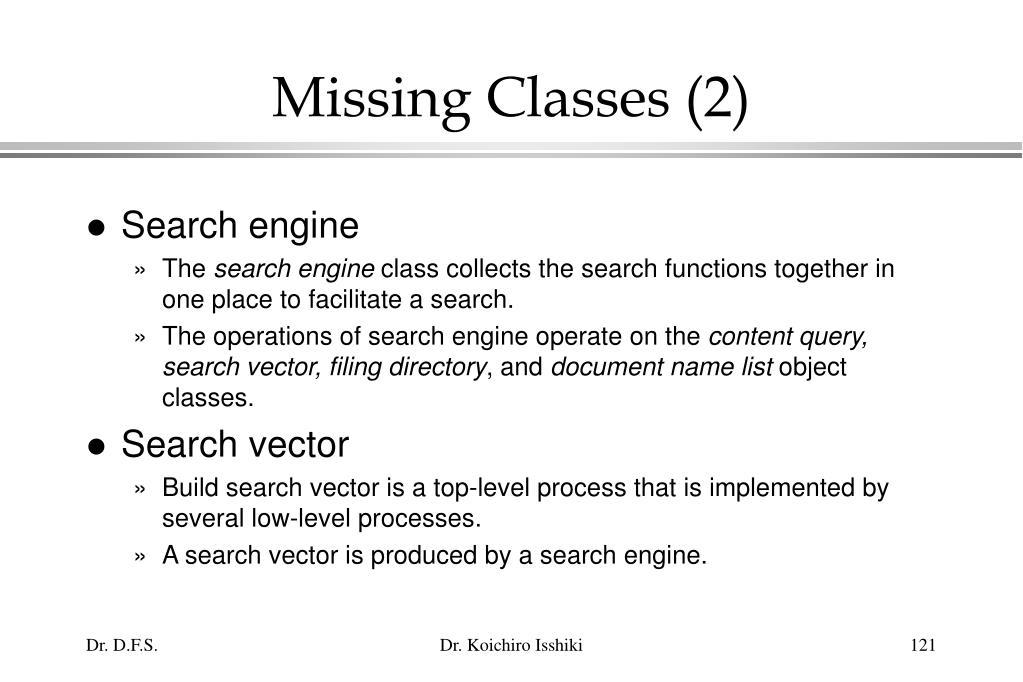 Missing Classes (2)