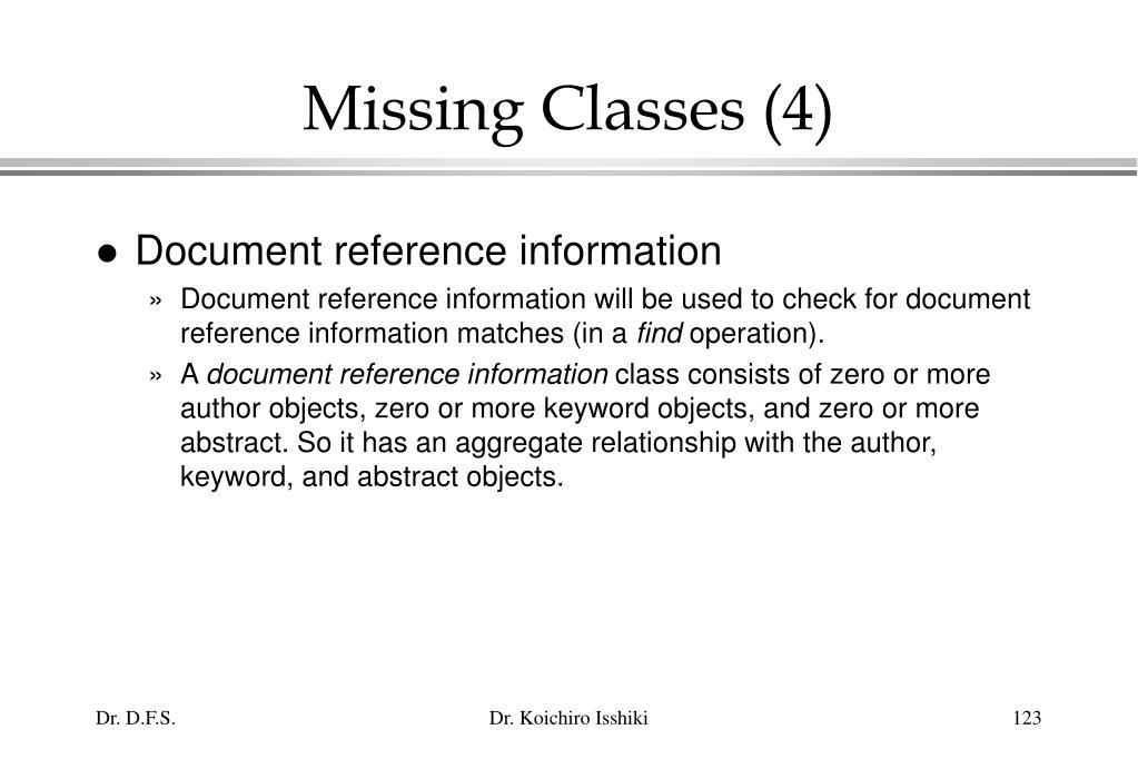 Missing Classes (4)