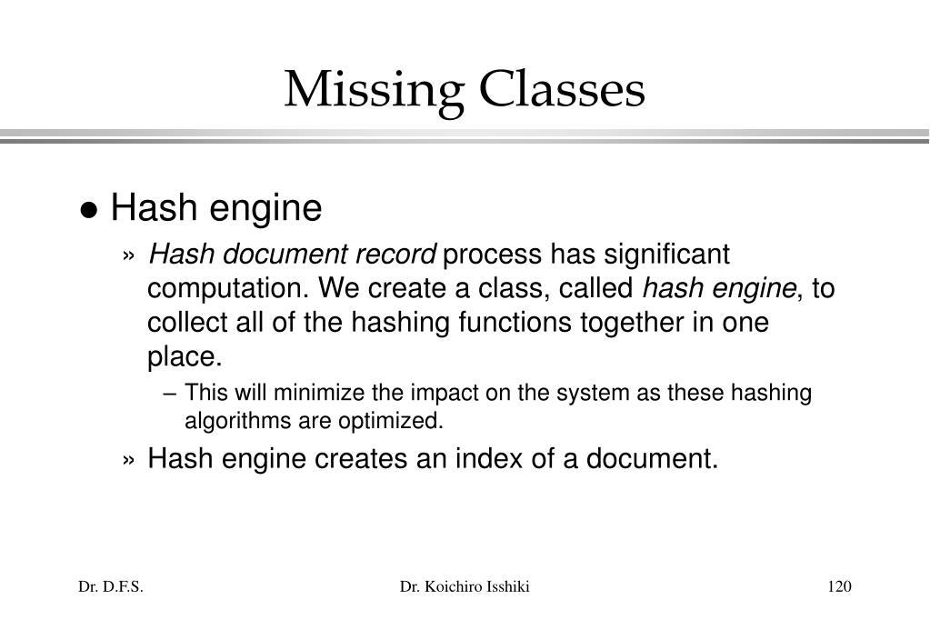 Missing Classes