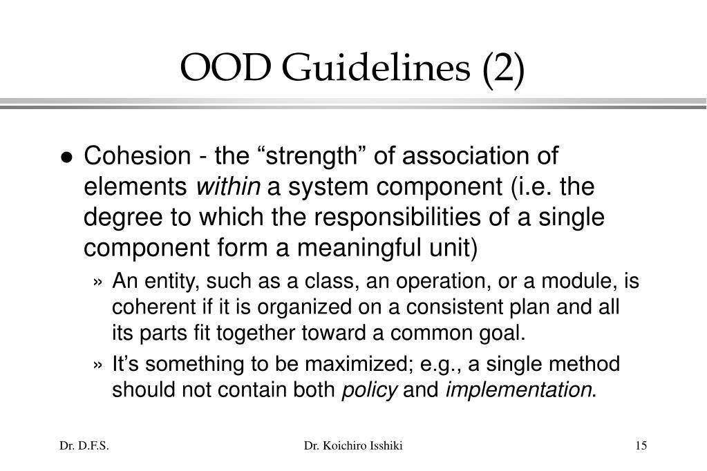 OOD Guidelines (2)