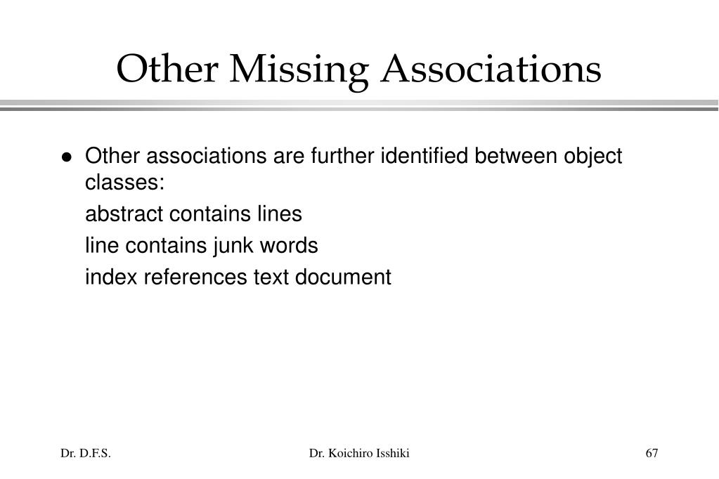 Other Missing Associations