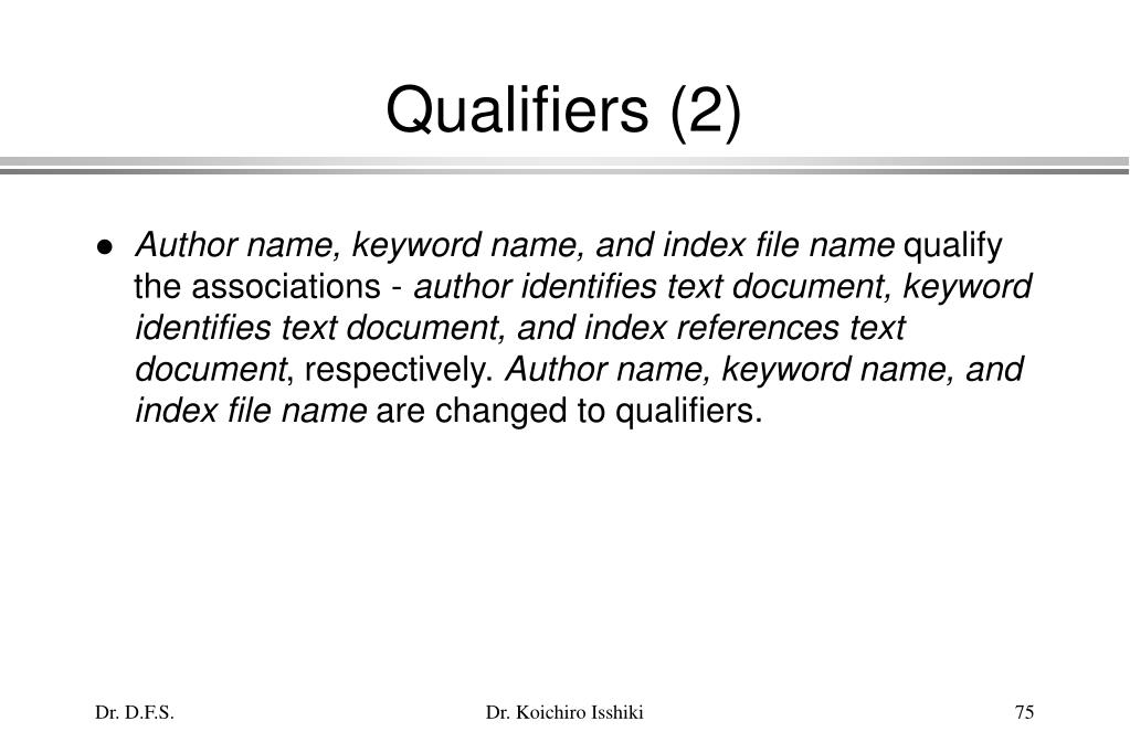 Qualifiers (2)