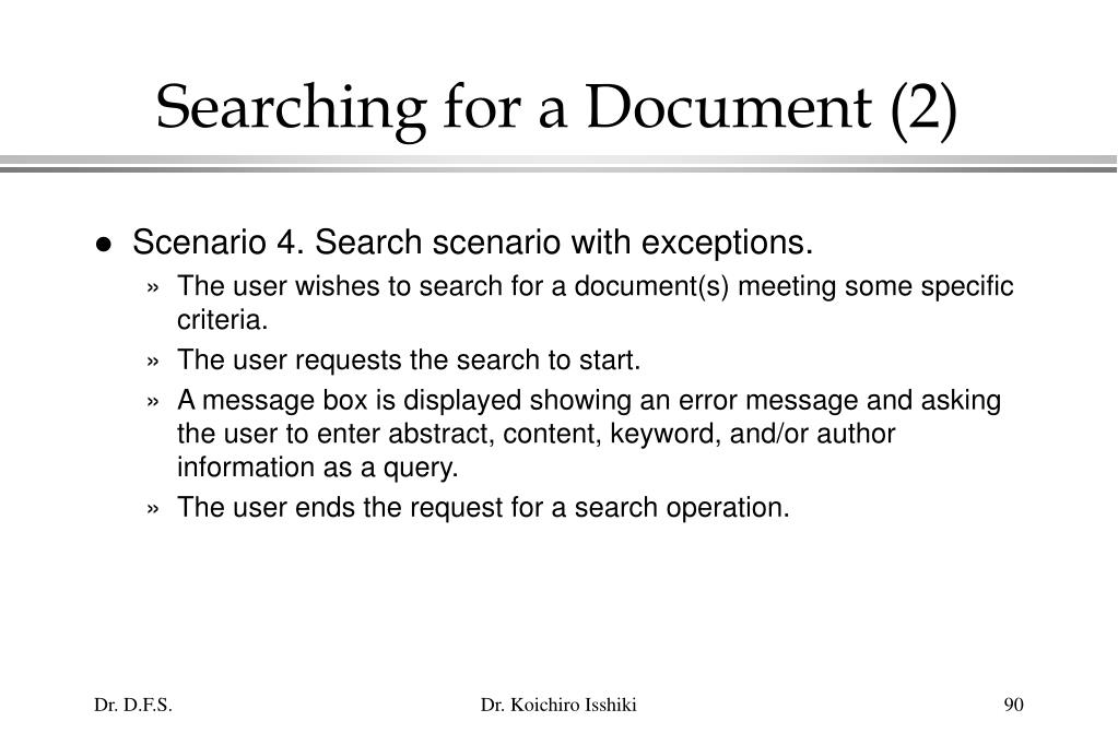 Searching for a Document (2)