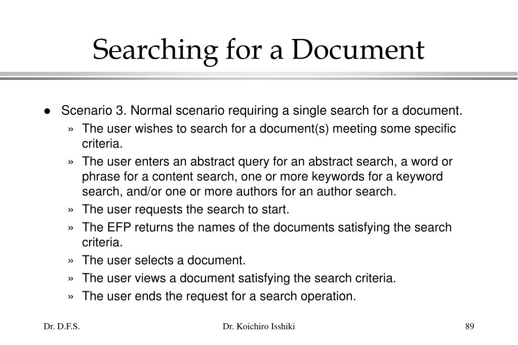 Searching for a Document