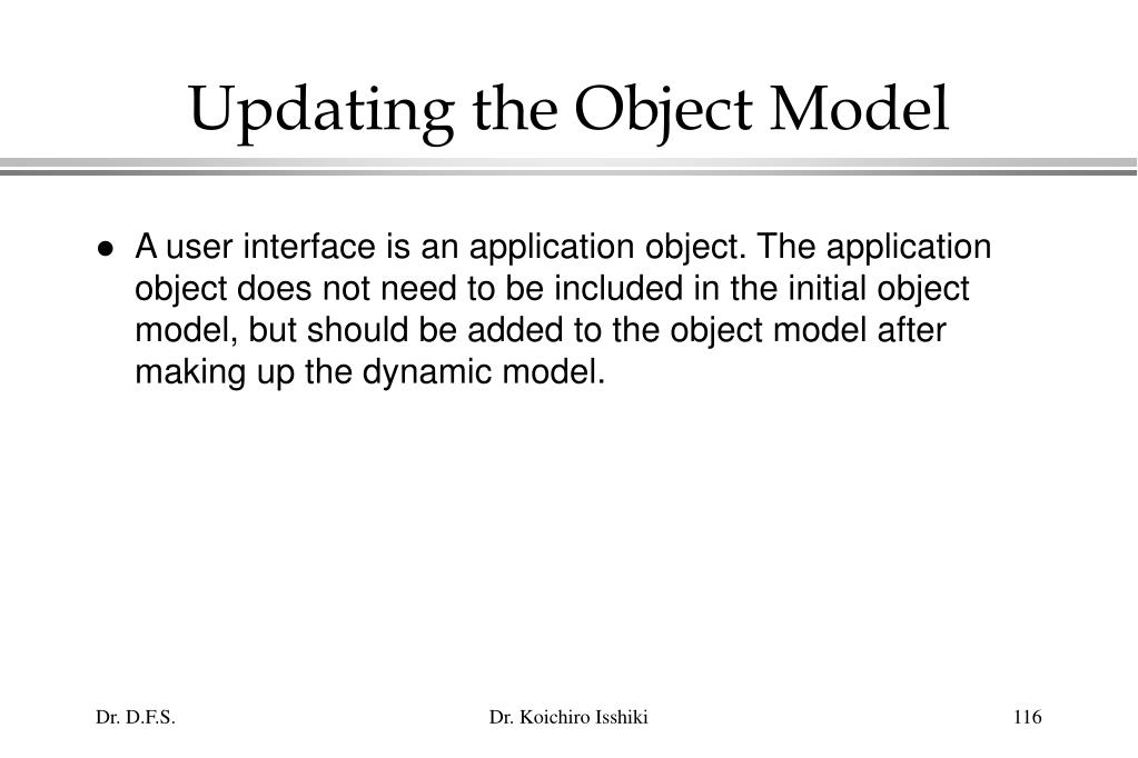Updating the Object Model