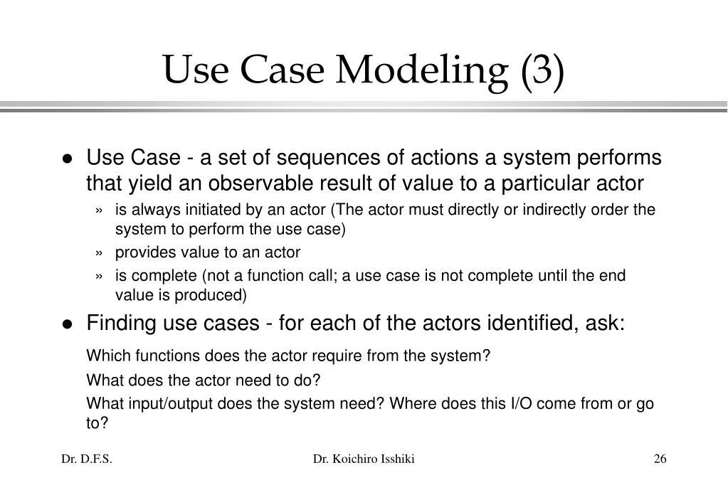 Use Case Modeling (3)