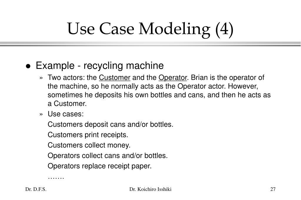 Use Case Modeling (4)