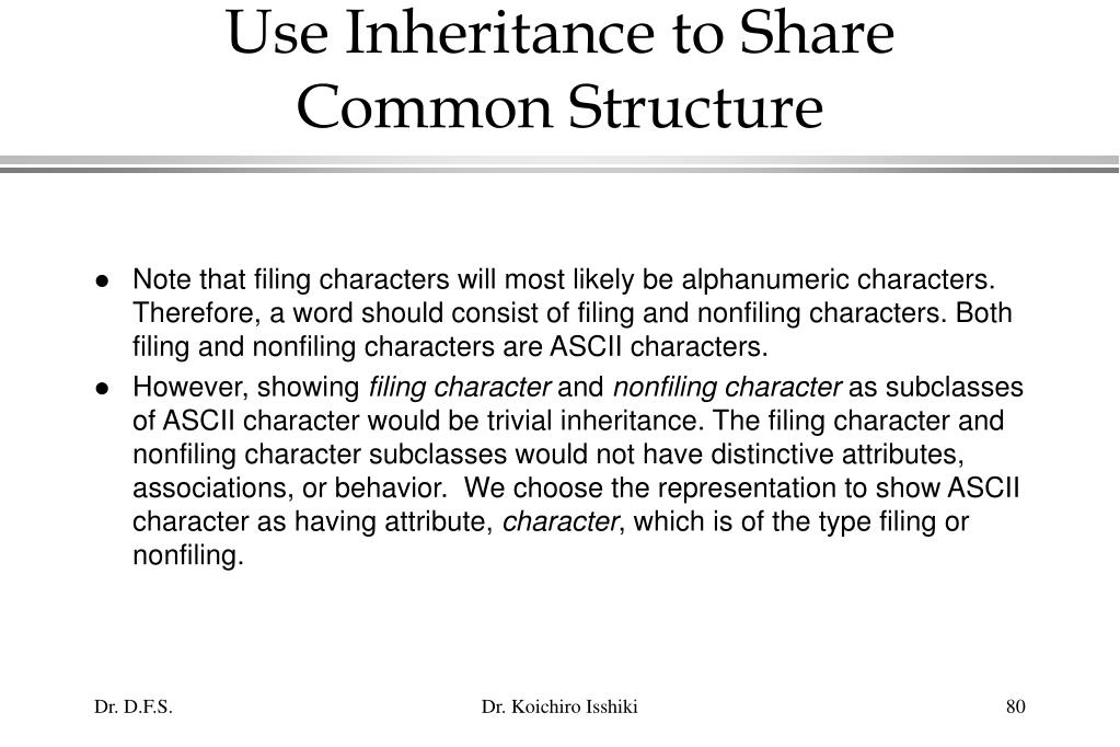 Use Inheritance to Share Common Structure