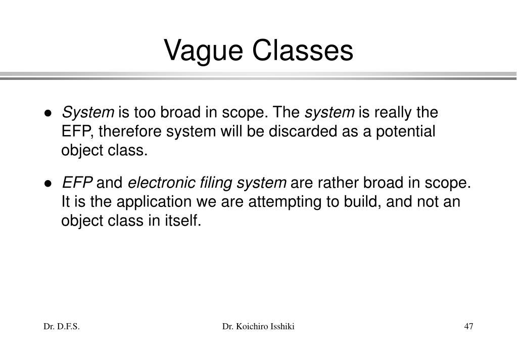 Vague Classes