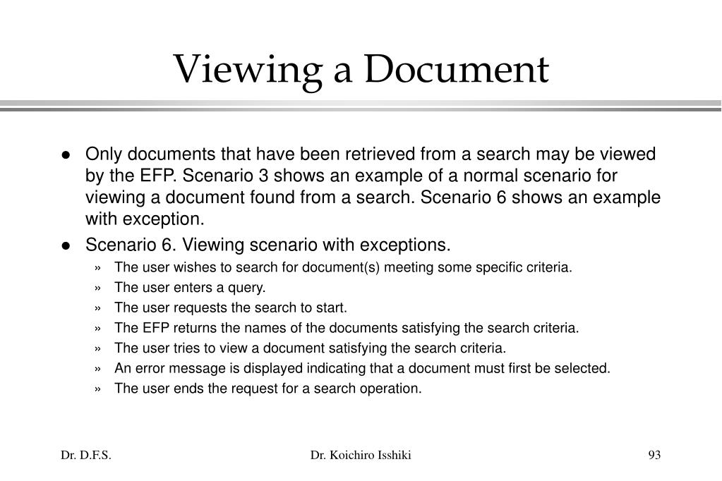 Viewing a Document