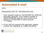 automated e mail