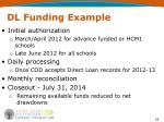 dl funding example