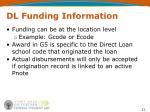 dl funding information