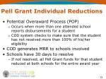 pell grant individual reductions