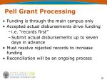 pell grant processing