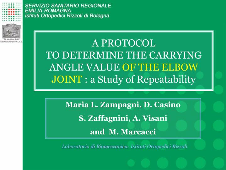 a protocol to determine the carrying angle value of the elbow joint a study of repeatability n.