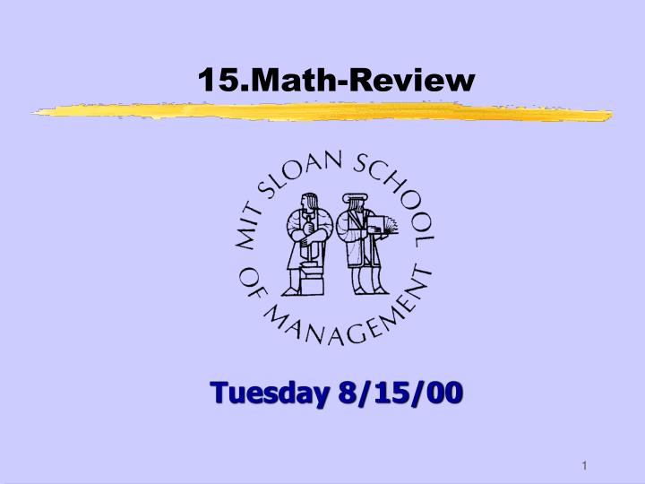 15 math review