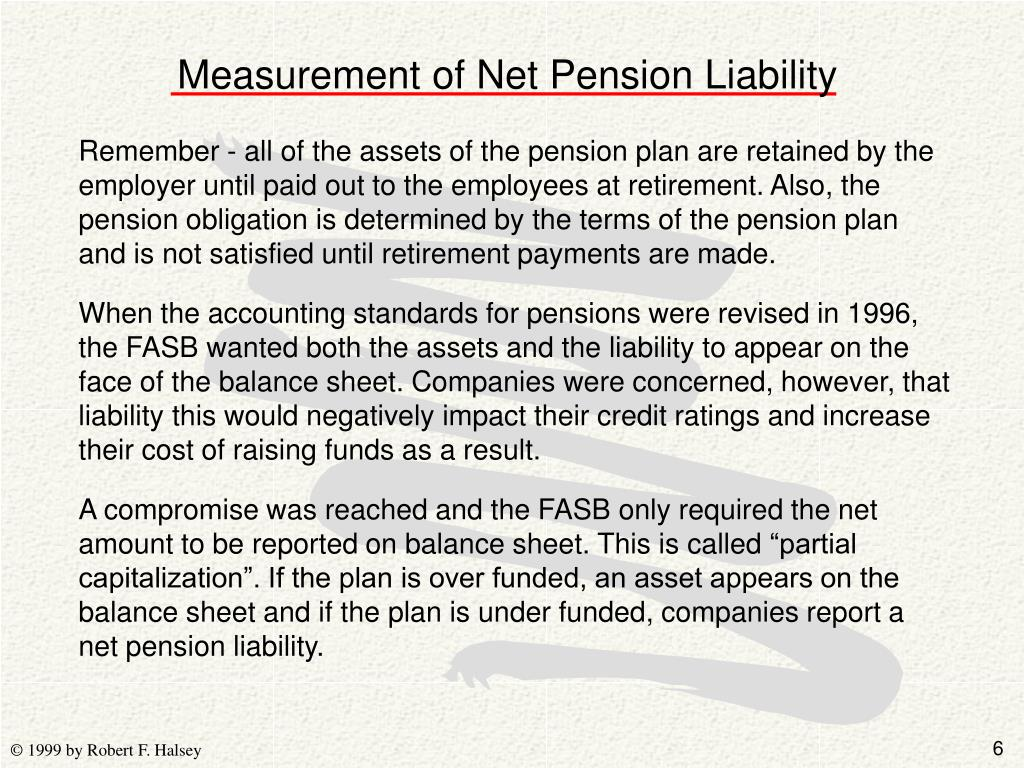 Measurement of Net Pension Liability