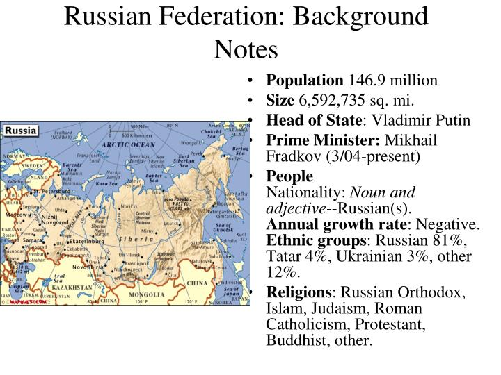 russian federation background notes n.