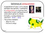 definition of voting schemes