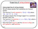 properties of voting schemes