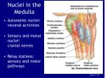 nuclei in the medulla