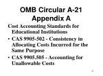 omb circular a 21 appendix a63