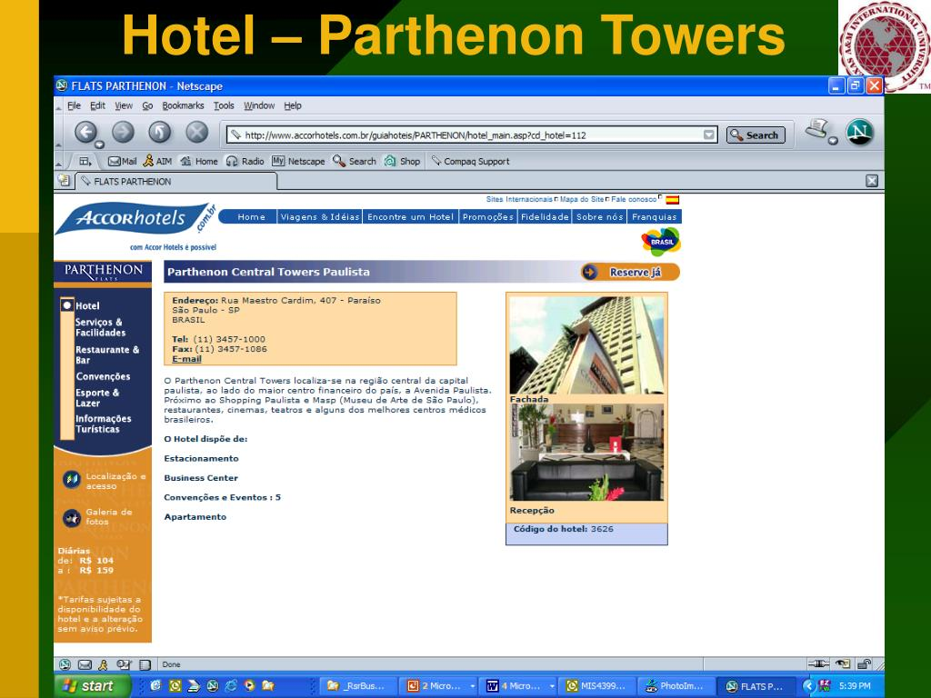 Hotel – Parthenon Towers