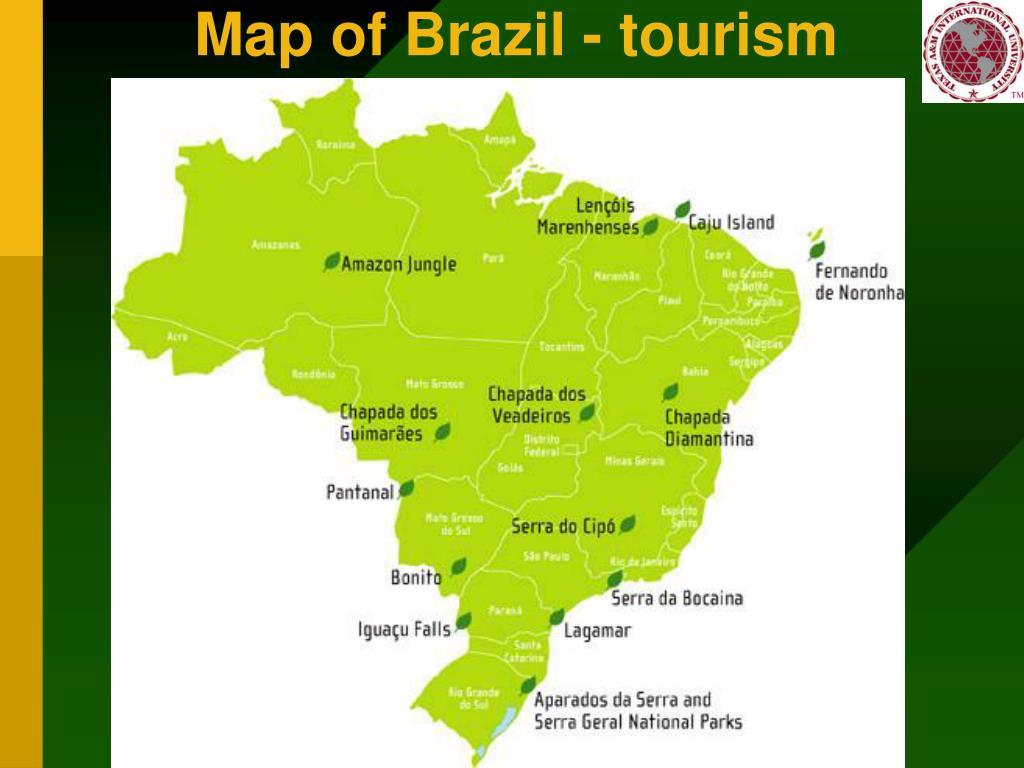 Map of Brazil - tourism