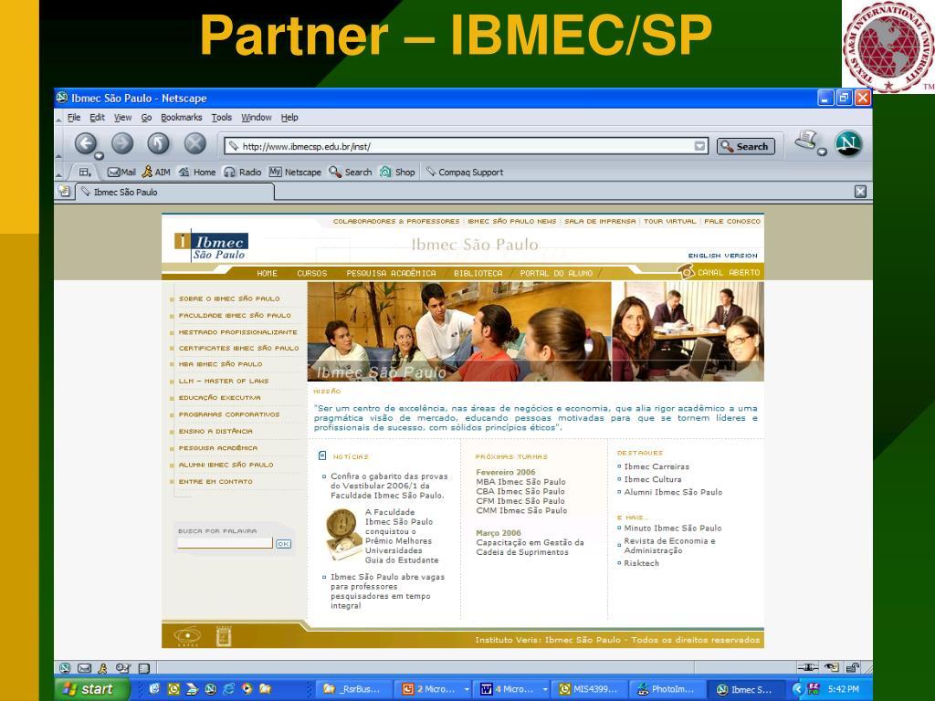 Partner – IBMEC/SP