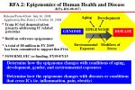 rfa 2 epigenomics of human health and disease