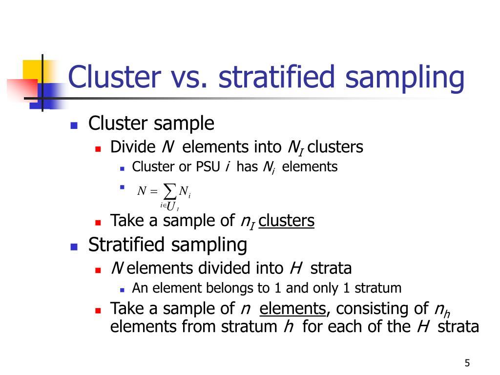 sample cluster vs stratified