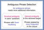 ambiguous phrase detection