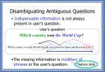 disambiguating ambiguous questions